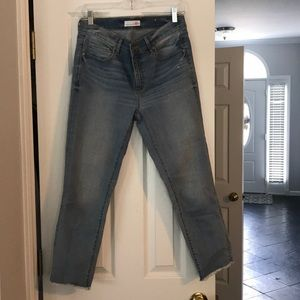 Loft light blue cropped modern skinny jeans
